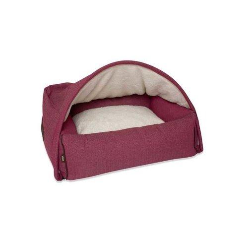 KONA CAVE Hondenmand  Snuggle Cave Bed Pink Herringbone