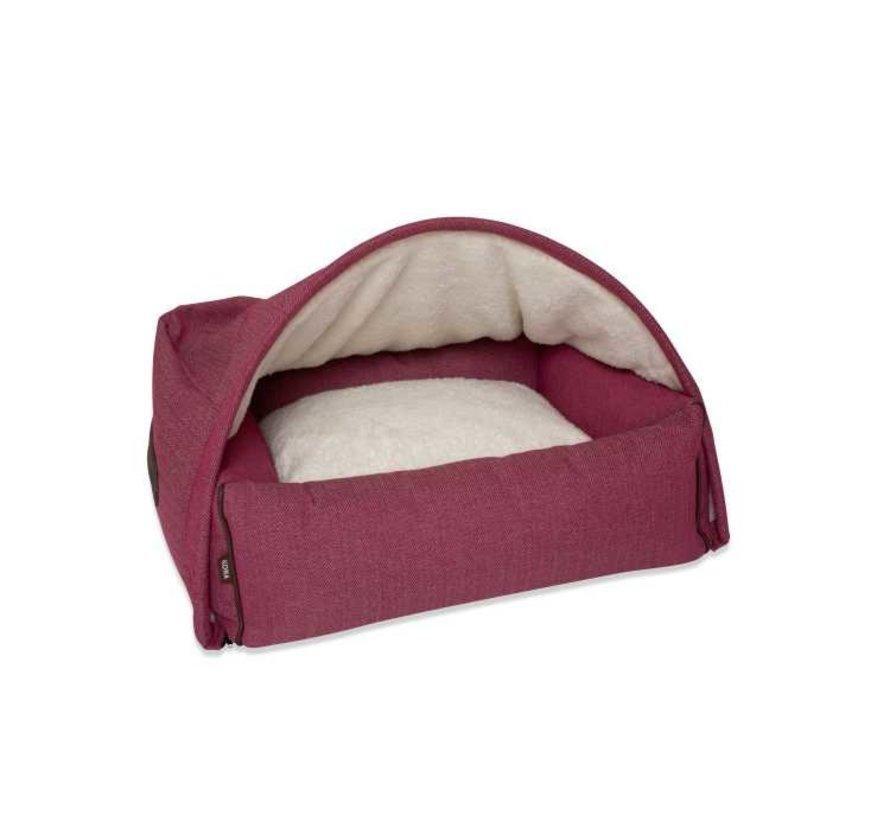 Hondenmand  Snuggle Cave Bed Pink Herringbone