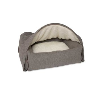 KONA CAVE Snuggle Cave Bed Grey Flannel