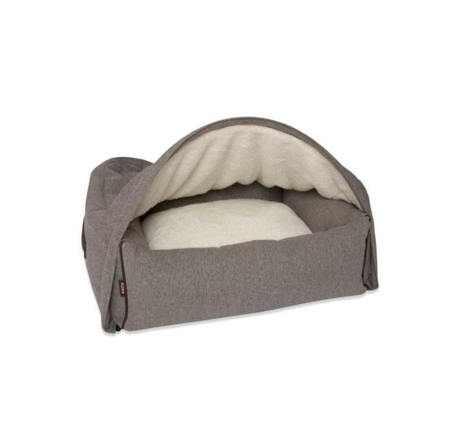 Hondenmand  Snuggle Cave Bed Grey Flannel