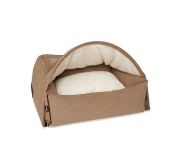 KONA CAVE Hondenmand  Snuggle Cave Bed Light Brown Flannel
