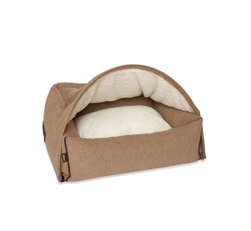 KONA CAVE Snuggle Cave Bed Light Brown Flannel
