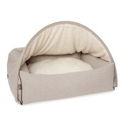 KONA CAVE Snuggle Cave Bed Beige Flannel