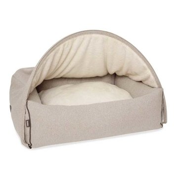 KONA CAVE Hondenmand  Snuggle Cave Bed Beige Flannel
