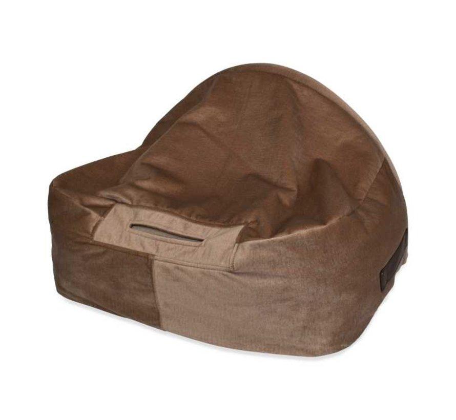 Snuggle Cave Bed Beige Velvet