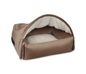 KONA CAVE Snuggle Cave Bed Beige Velvet