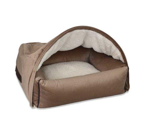 KONA CAVE Hondenmand  Snuggle Cave Bed Beige Velvet