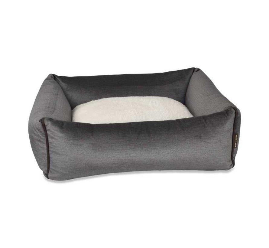 Hondenmand  Snuggle Cave Bed Grey Velvet