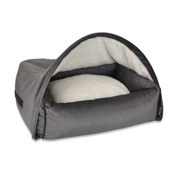 KONA CAVE Hondenmand  Snuggle Cave Bed Grey Velvet