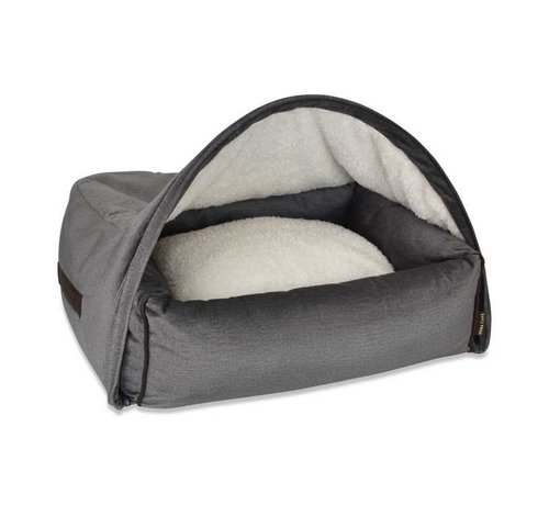 KONA CAVE Snuggle Cave Bed Grey Velvet