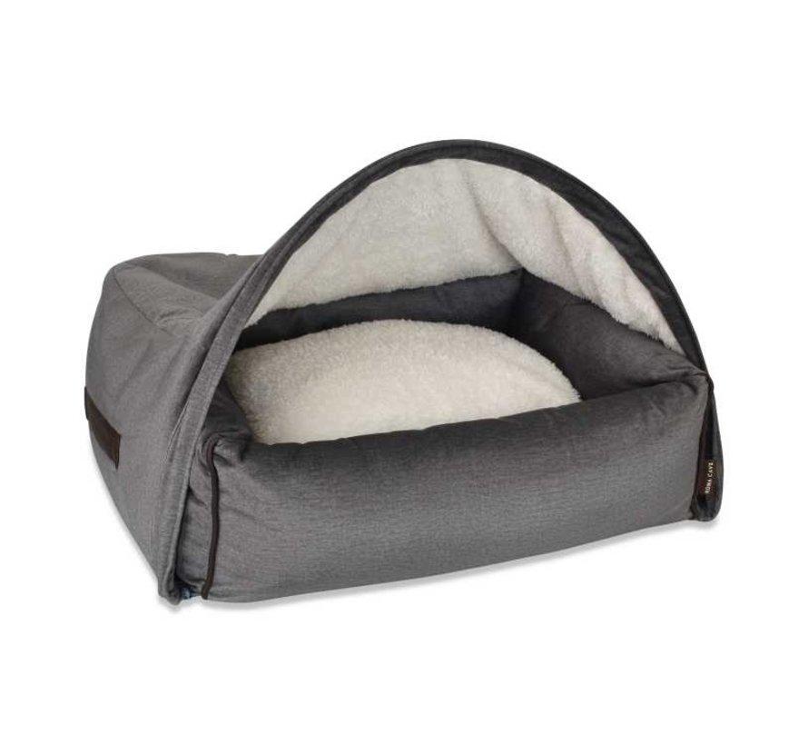 Snuggle Cave Bed Grey Velvet