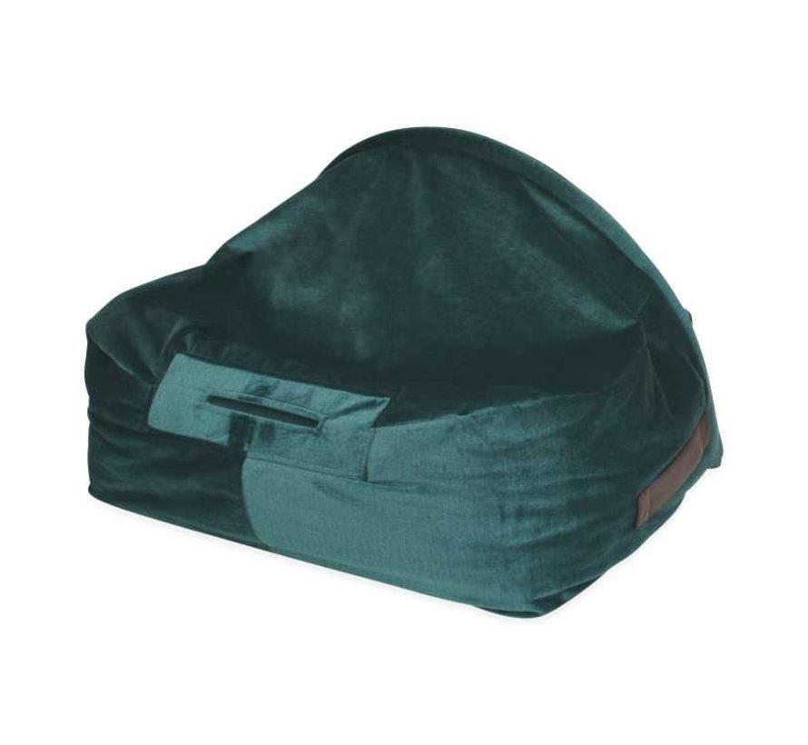 Snuggle Cave Bed Green Velvet