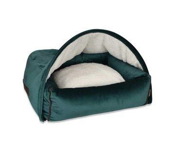 KONA CAVE Snuggle Cave Bed Green Velvet