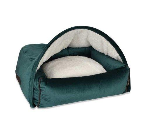 KONA CAVE Hondenmand  Snuggle Cave Bed Green Velvet