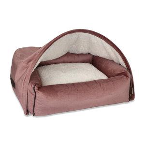 KONA CAVE Hondenmand  Snuggle Cave Bed Pink Velvet