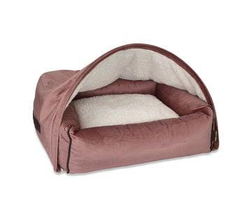 KONA CAVE Snuggle Cave Bed Pink Velvet