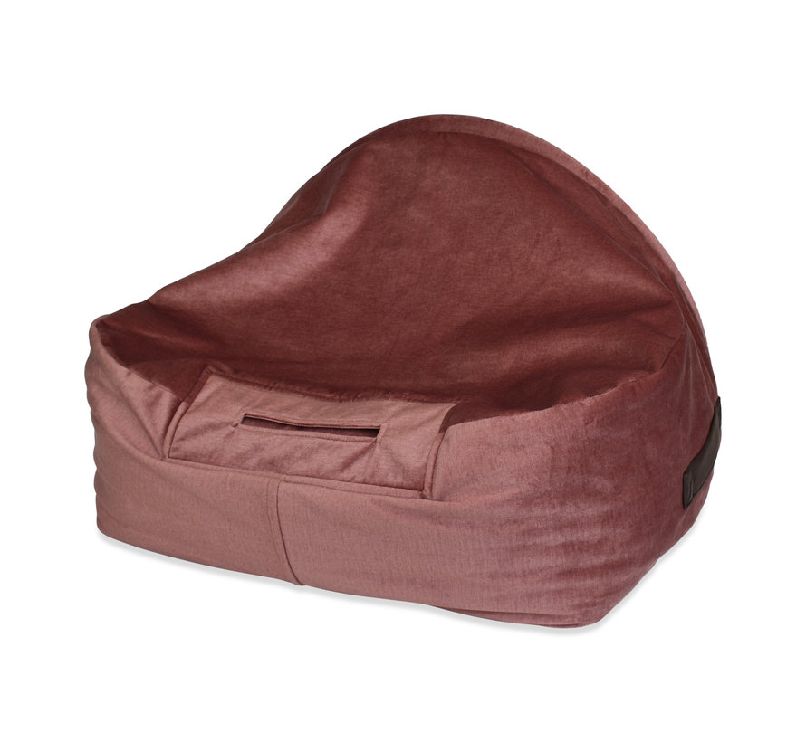 Hondenmand  Snuggle Cave Bed Pink Velvet