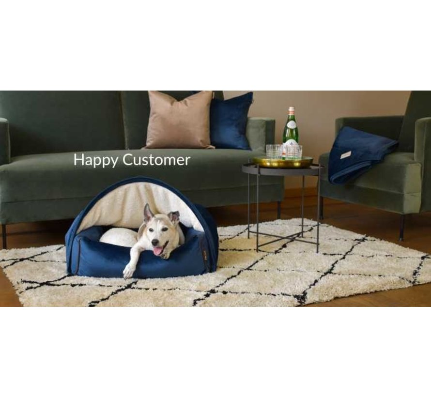 Snuggle Cave Bed Light Brown Flannel