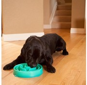 Outward Hound Anti Schrok voerbak Slo-Bowl™ Drop Teal