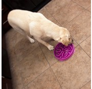 Outward Hound Slow Feeder Slo-Bowl ™ Flower Purple