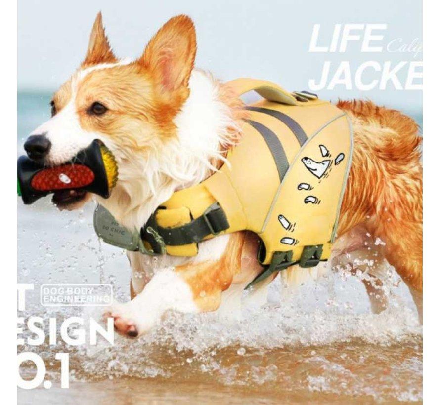 Hondenzwemvest Geel