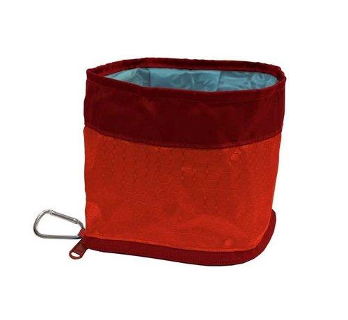 Kurgo Foldable Zippy Bowl Red