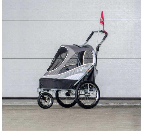 Innopet Pet Stroller Sporty Dog Trailer Grey/Black