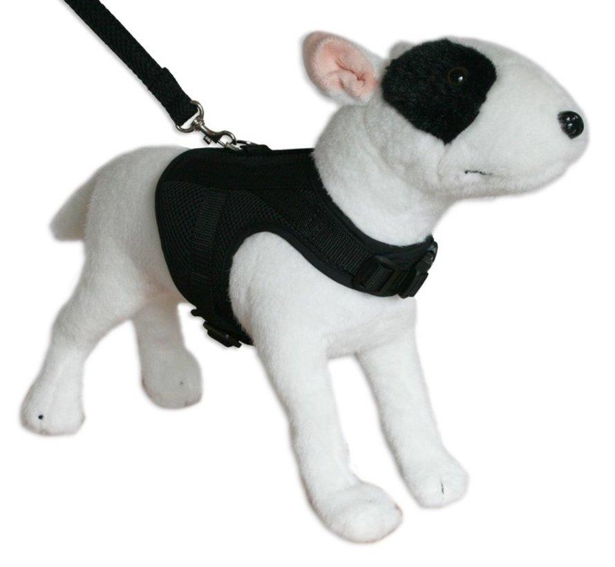 Dog Harness Jacket Mesh Black