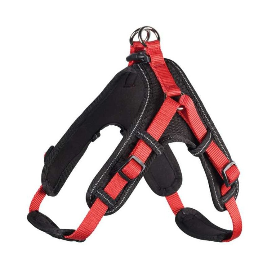 Dog Harness Neoprene Vario Quick Red