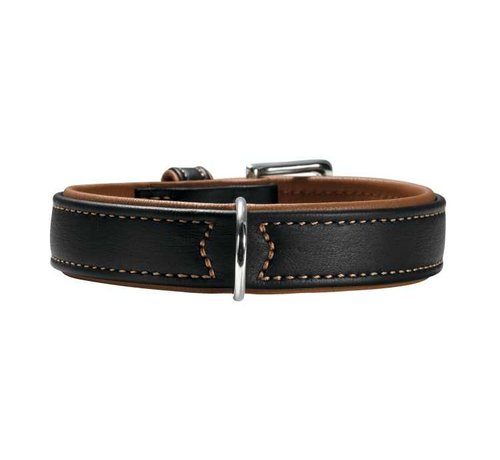 Hunter Dog Collar Canadian Black / Cognac