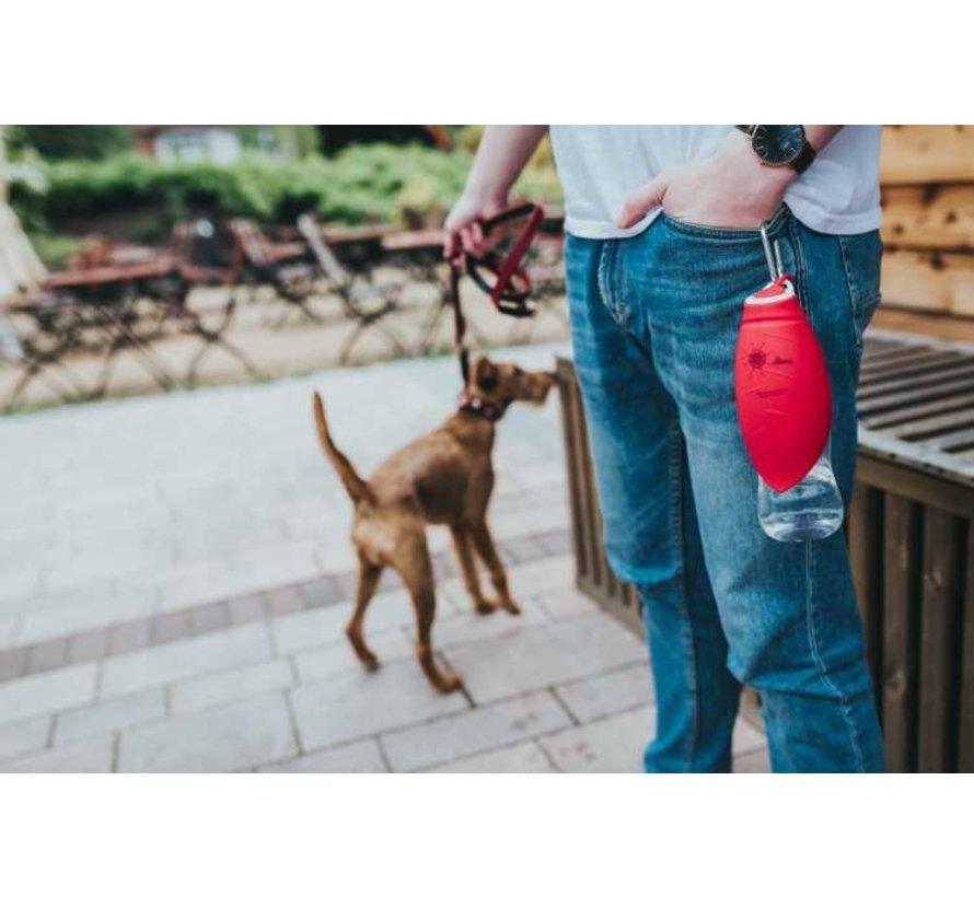 Dog Water Bottle List Red