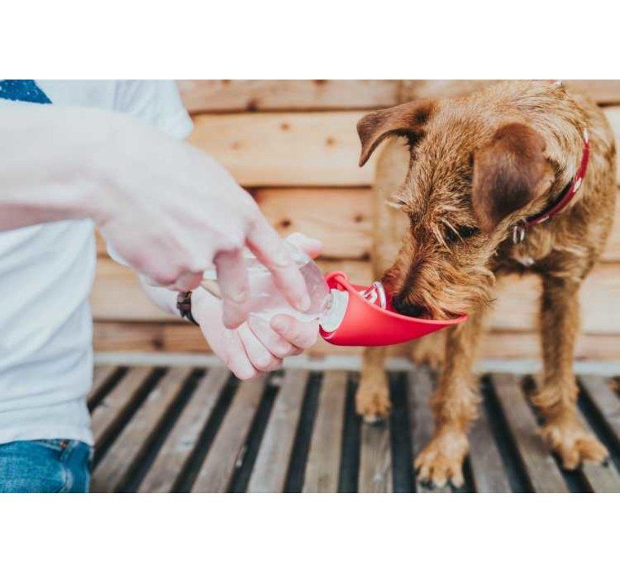 Drinkfles Hond List Rood