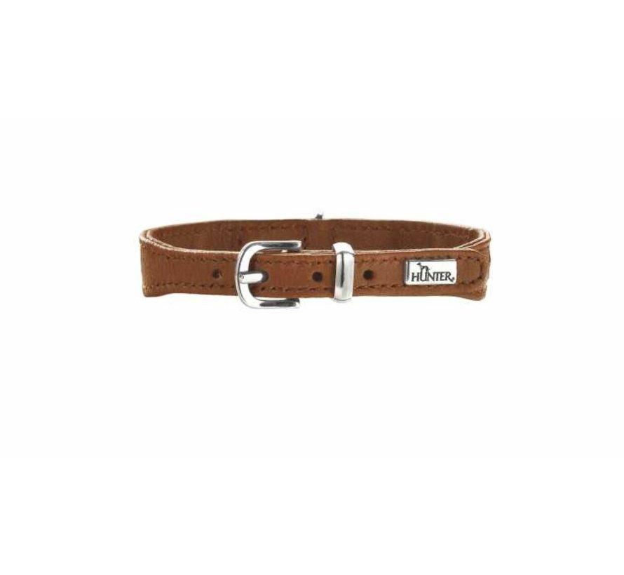 Dog Collar Diamond Elk Petit Cognac