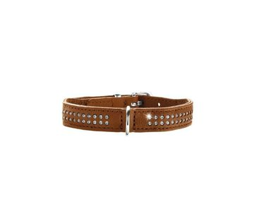 Hunter Dog Collar Diamond Elk Petit Cognac
