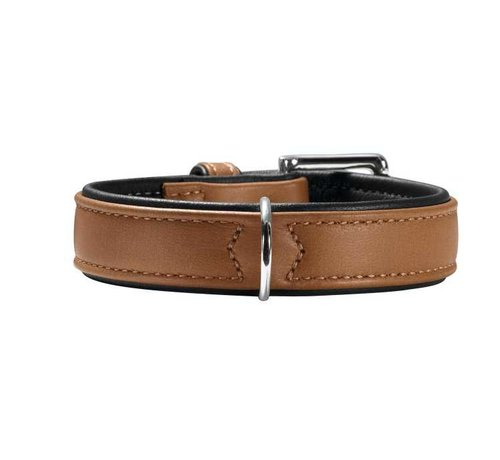 Hunter Dog Collar Canadian Cognac / Black