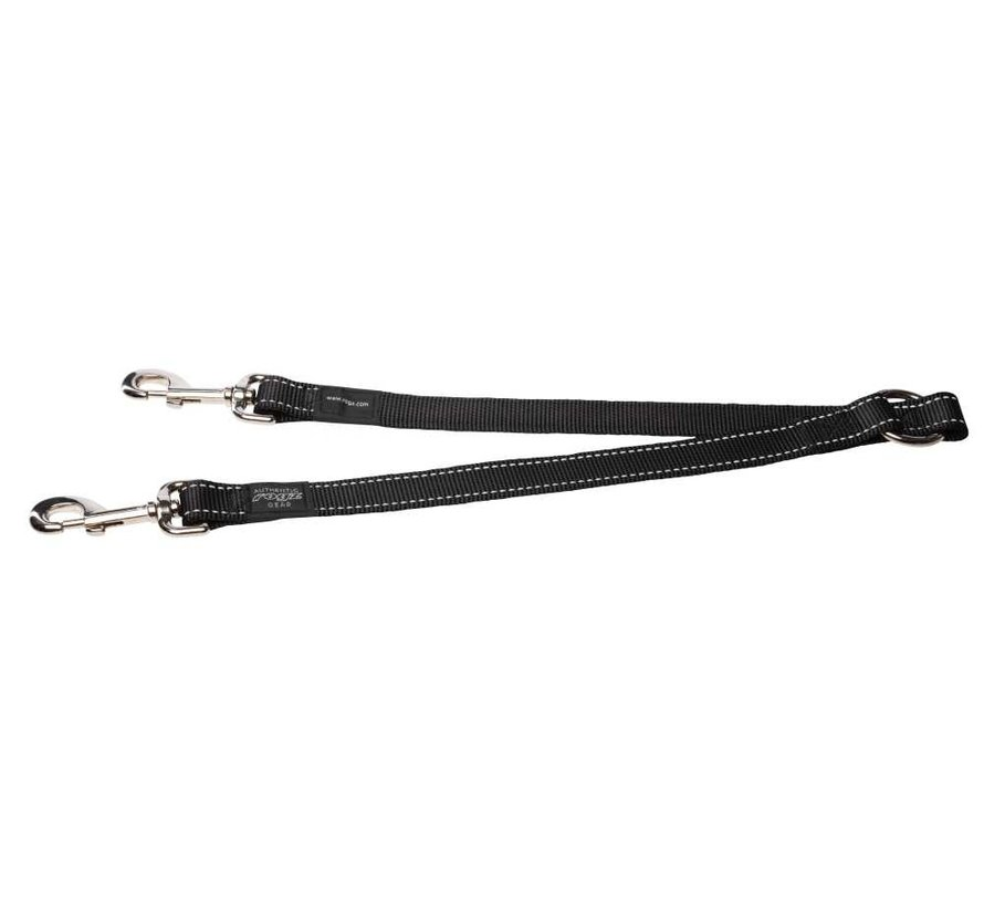 Dubbele Hondenriem Splitter Zwart