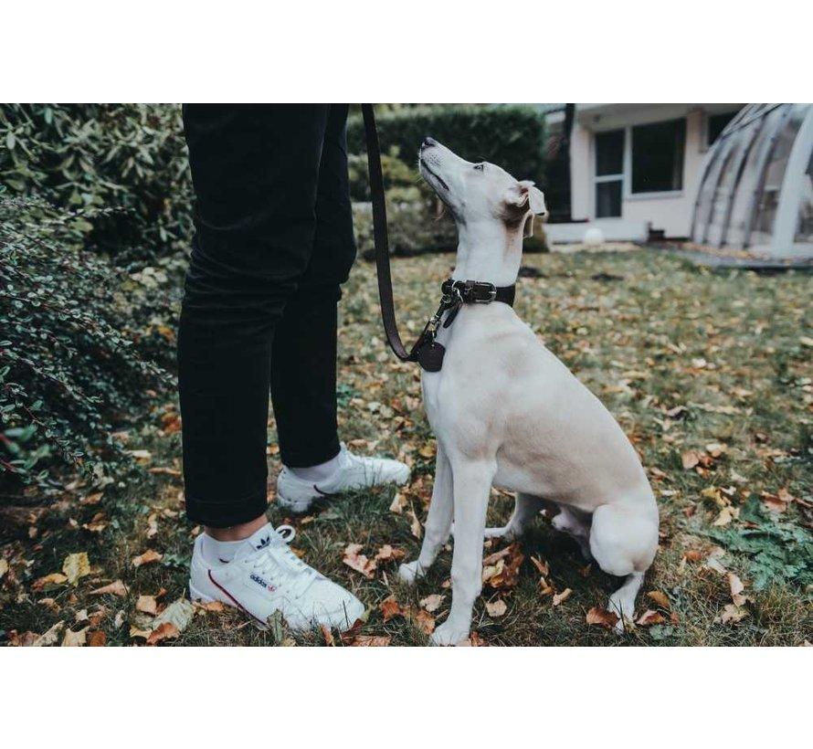 Dog Leash Dark Brown Leather