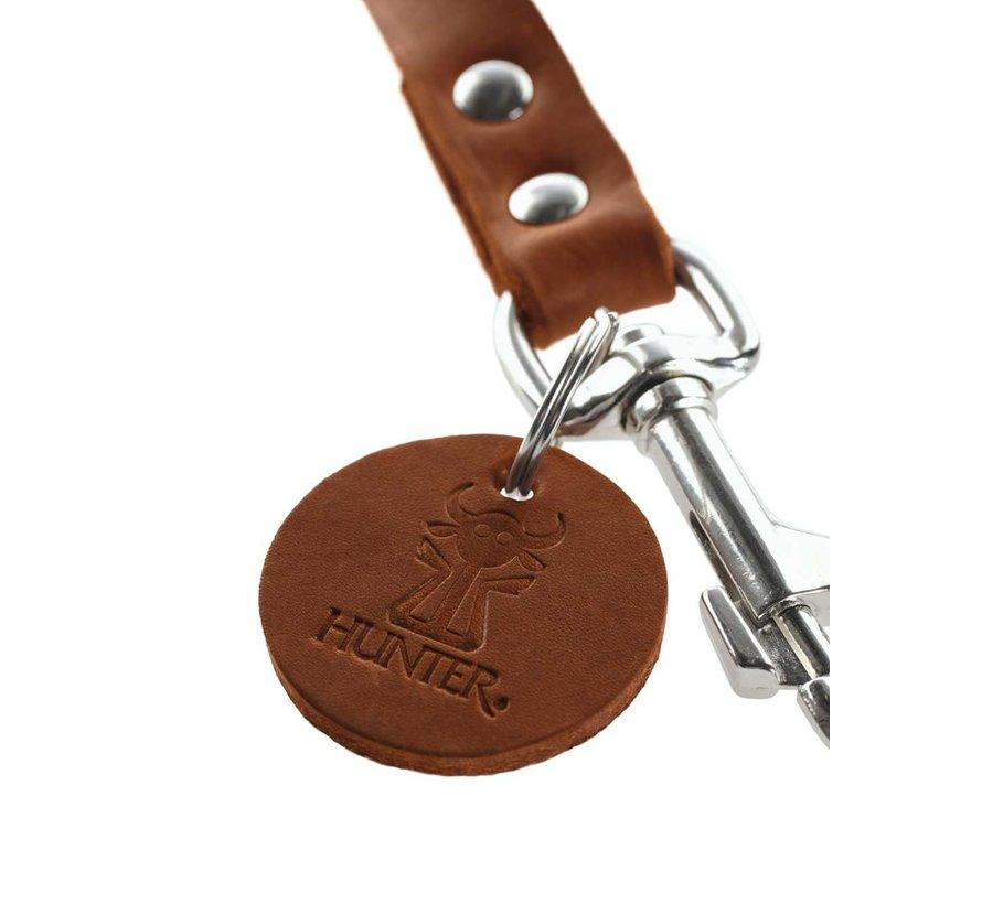 Adjustable Dog Leash Cognac Leather