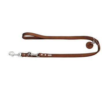 Hunter Adjustable Dog Leash Cognac Leather