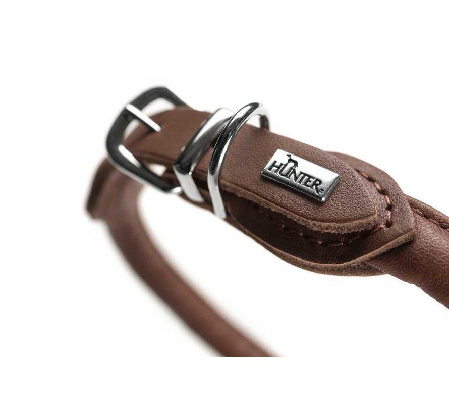 Dog Collar Round & Soft Brown