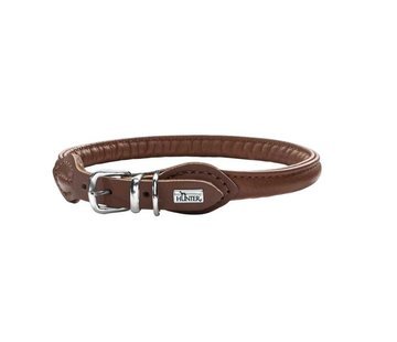 Hunter Dog Collar Round & Soft Brown