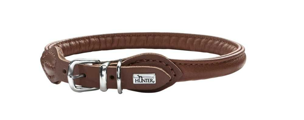 Hondenhalsband Round & Soft Bruin