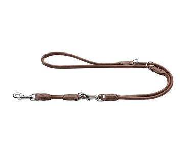 Hunter Dog Leash Round & Soft Brown