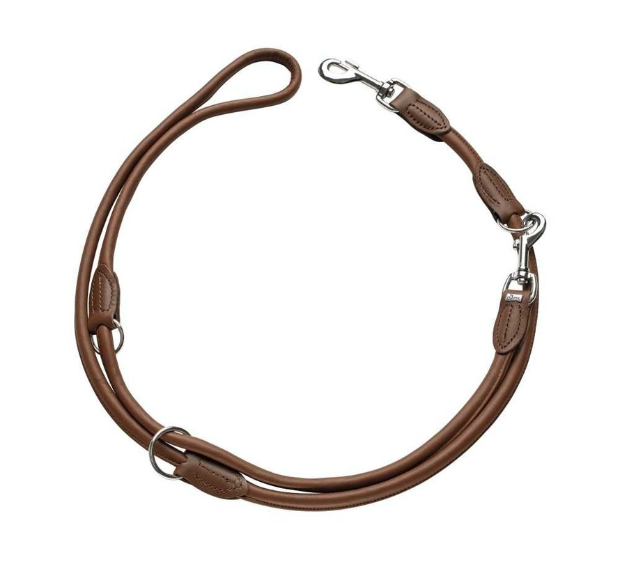 Dog Leash Round & Soft Brown