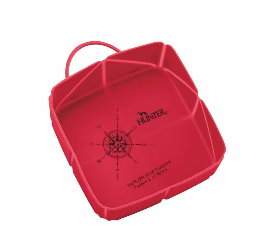 Foldable Travel Bowl List Red