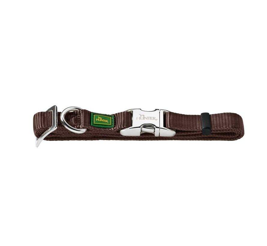 Dog Collar Vario Alu Strong Brown