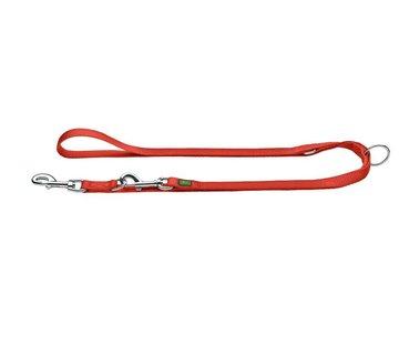 Hunter Adjustable Dog Leash Nylon Red