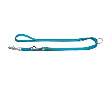 Hunter Adjustable Dog Leash Nylon Teal