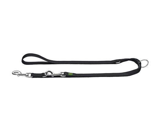 Hunter Adjustable Dog Leash Nylon Black