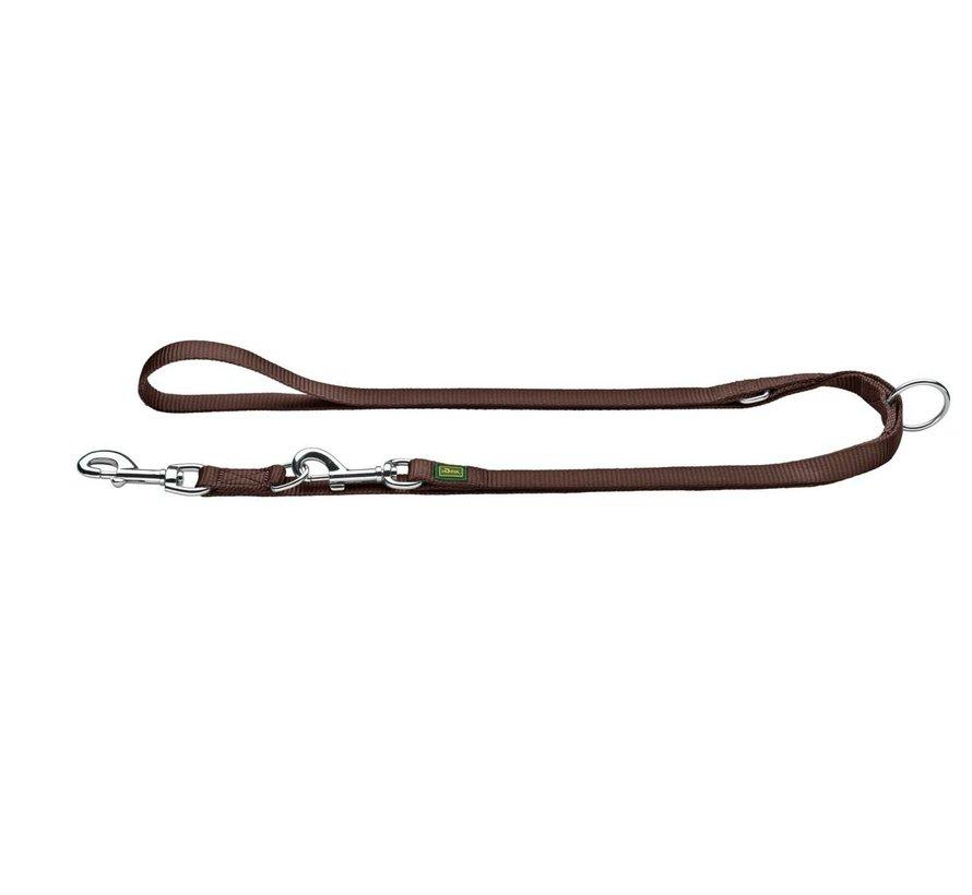 Adjustable Dog Leash Nylon Brown XL